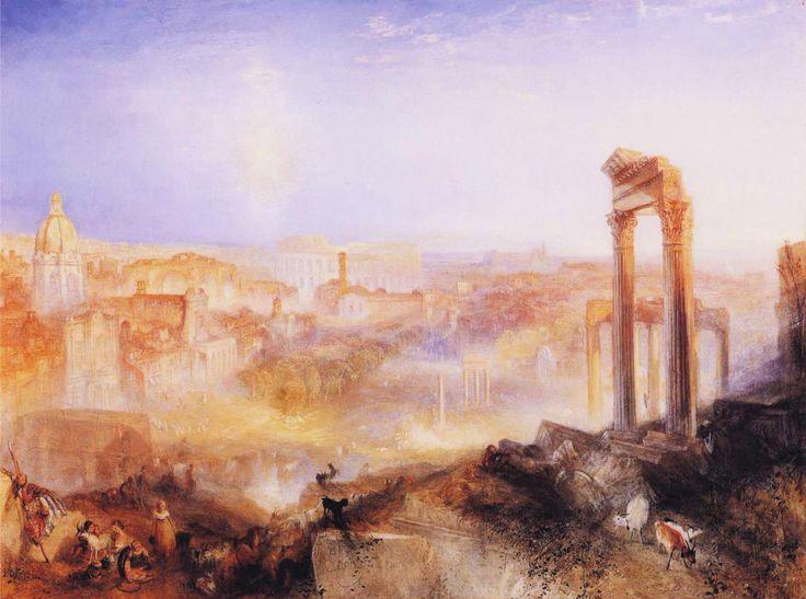 Joseph Mallord William Turner - Modern Rome; Campo Vacino