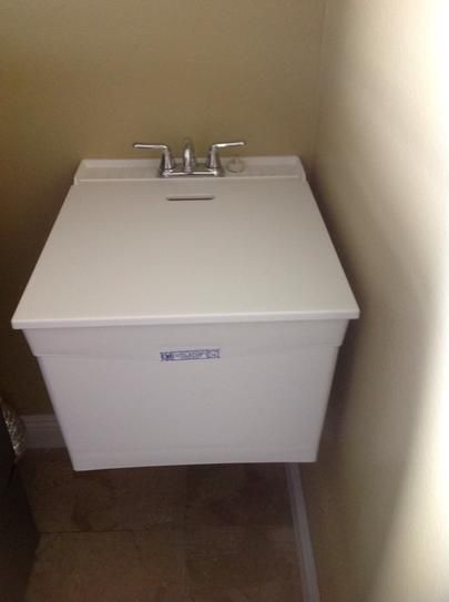 Mustee Utilatop White Laundry Tub Top Cover Home The O