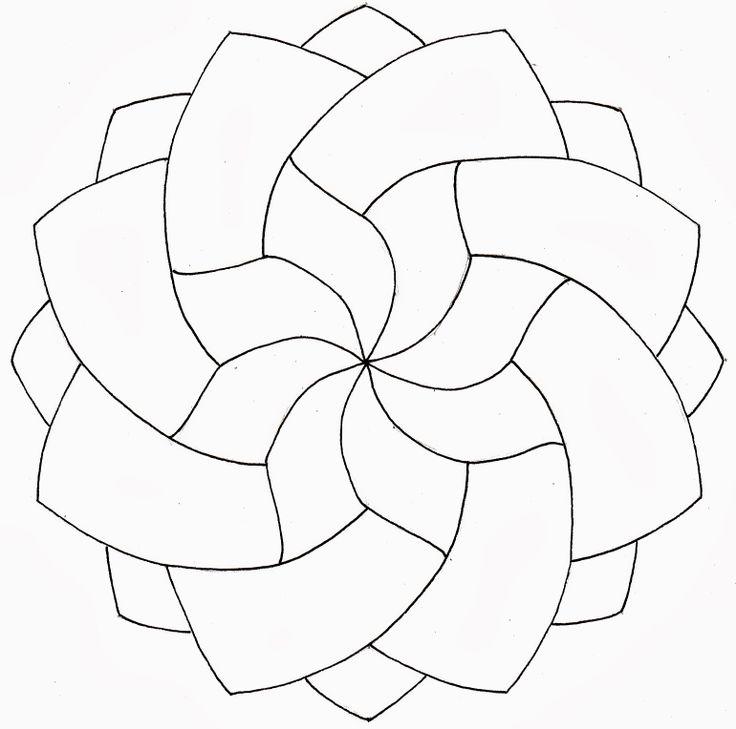 Blank Zentangle Patterns | White Gold