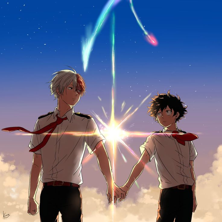 Boku no Hero Academia x Kimi no Na wa || Cross-Over [ Todoroki Shouto, Midoriya Izuku. ]