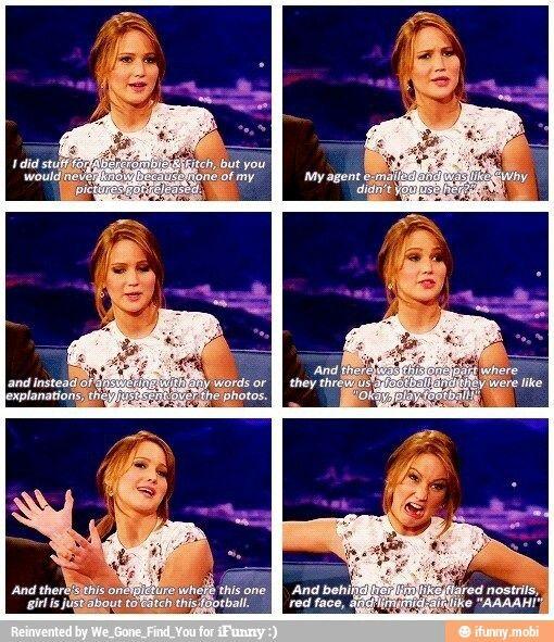 Jennifer lawrence........very funny