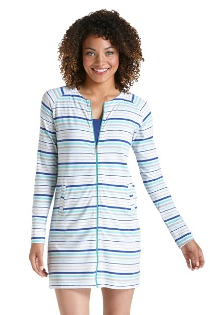 """ZnO Coastline Cover-Up - <div class=""""tabContent"""" id=""""tab1"""" style=""""display: block;""""> <div class=""""text""""> <p class=""""inline""""> Our softest zip cover up, now without a hood"""