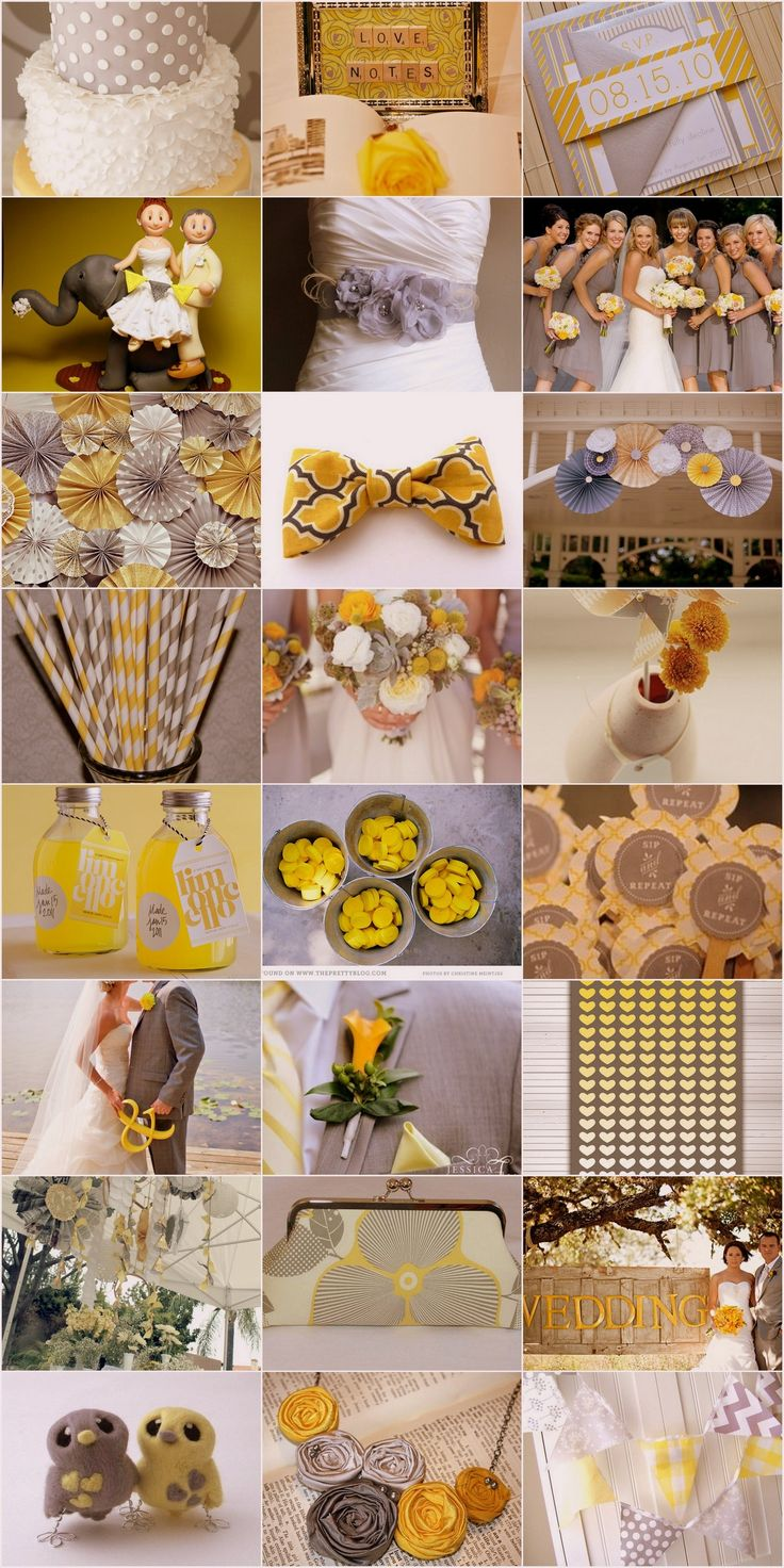 Wedding decorations yellow and gray  The  best images about Yellow and grey wedding ideas on Pinterest