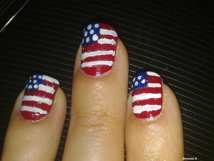 Image detail for -Nail art: unghie con bandiera americana | Nail Art | Donnee.it
