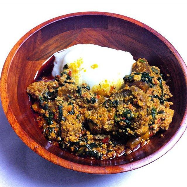 Pounded Yam With Nigerian Egusi Soup. http://www.nigerianfoodies.com/2016/05/pounded-yam-with-nigerian-egusi-soup.html