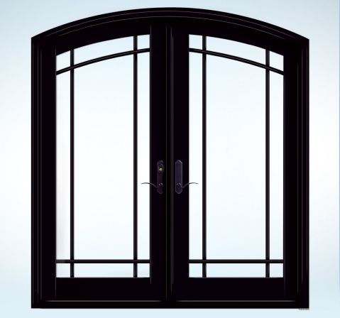 Black patio french doors from jeld wen my ideal home for Custom french patio doors