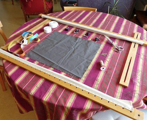 Tutoriel : comment monter le tissu sur le métier à broder   broderieplaisir.eu