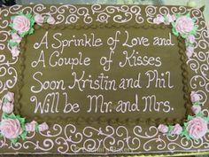 Wedding Shower Sheet Cake, Bridal Shower Sheet Cakes, Wedding Shower Quotes, Bridal Shower Sheet Cake Ideas, Bridal Shower Quotes, Bridal Shower Poster ...