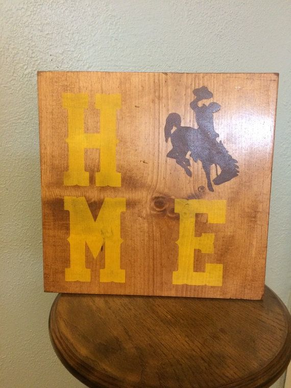 Licensed University of Wyoming Home sign. by CraftingWithMama