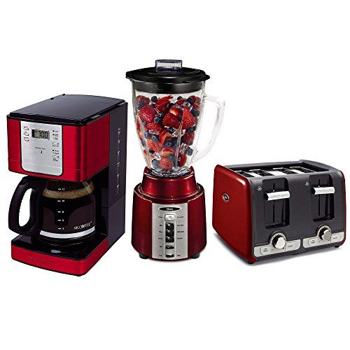 Mr. Coffee 12-Cup Coffee Maker   Oster 8 Speed 450W Blender   4-Slice Toaster