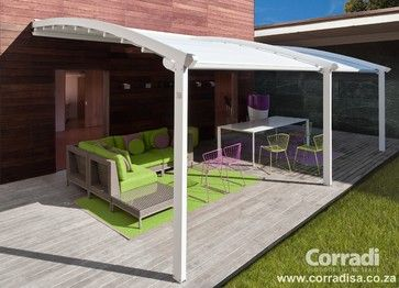 Inexpensive Awning Ideas | Pergotenda- Patio awnings with retractable roofs by Corradi ...