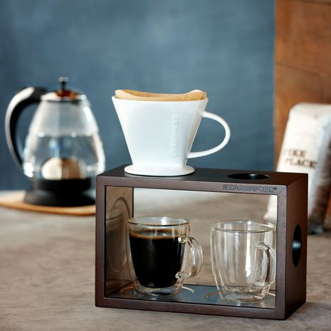 Wood Pour Over Stand and #4 Cone Set | Starbucks® Store