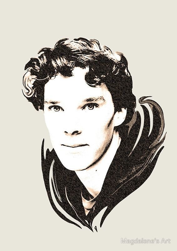 Benedict Cumberbatch sketch available on Redbubble  Printed on T-shirts, phone cases, mugs, etc