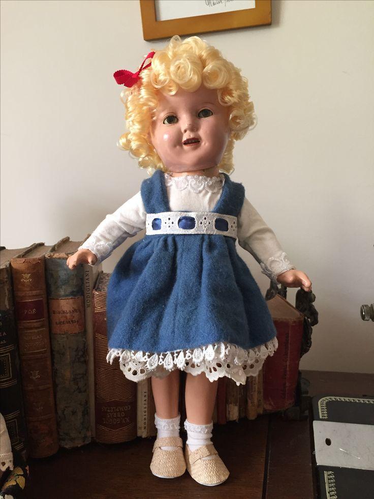 Muñeca de porcelana restaurada Shirley Temple 1935