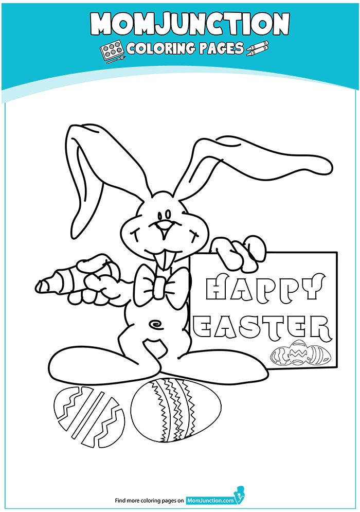Coloring Page In 2020 Mom Junction Easter Coloring Pages Coloring Pages