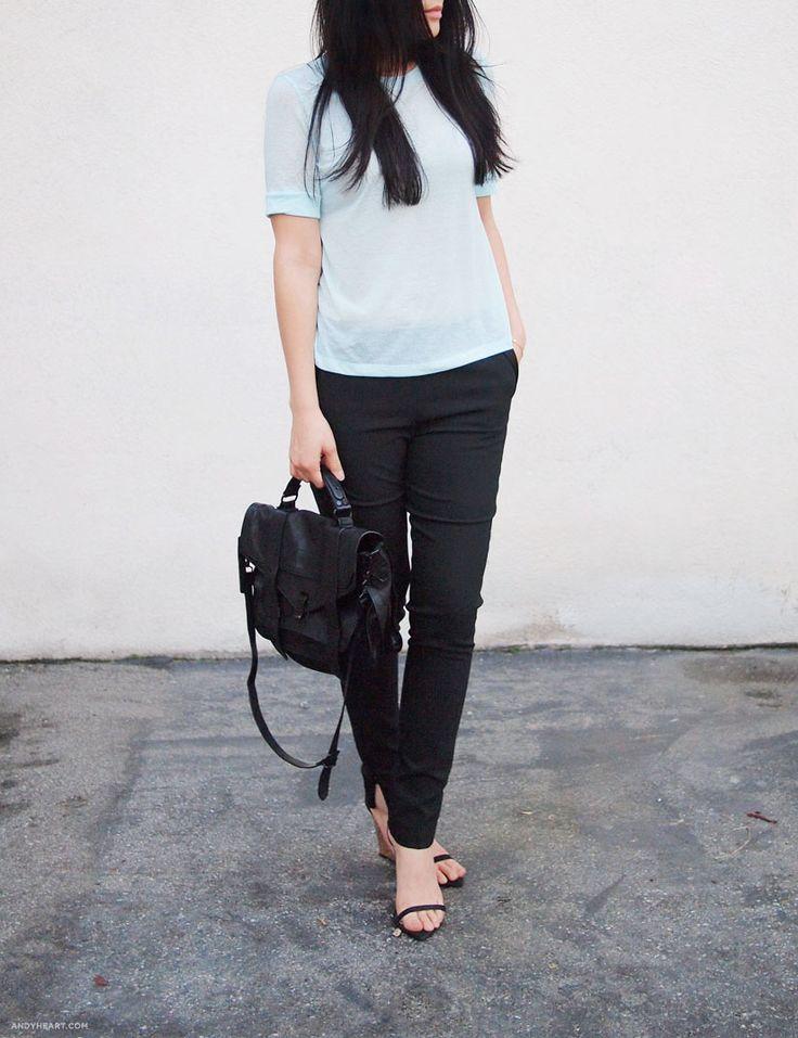 what-do-i-wear:  PROENZA SCHOULER PS1 BAG //H&M SHIRT //ZARA SHOES(image:andyheart)
