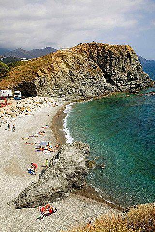 .Llanca, Costa Brava, GR-92 route, Girona Province, Catalonia, Spain