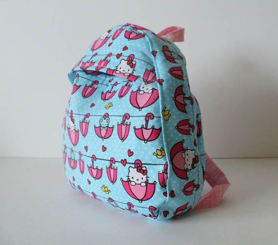 toddler backpack -- hello kitty. $24.00, via Etsy.