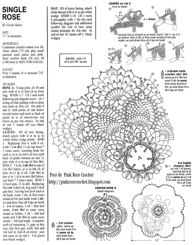 97 best patrones de crochet images on pinterest crochet doilies singlerosedoilygrprosecrochetg 892 ccuart Image collections