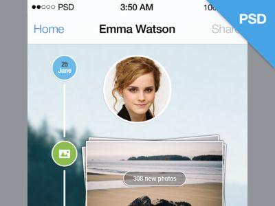 iOS7 Timeline (PSD)Ios7 Pin, Style Timeline, 575 Ios7 Timeline Psd Png, Design Resources, Free Psd,  Website, Web Design, Ios Design, Web Site