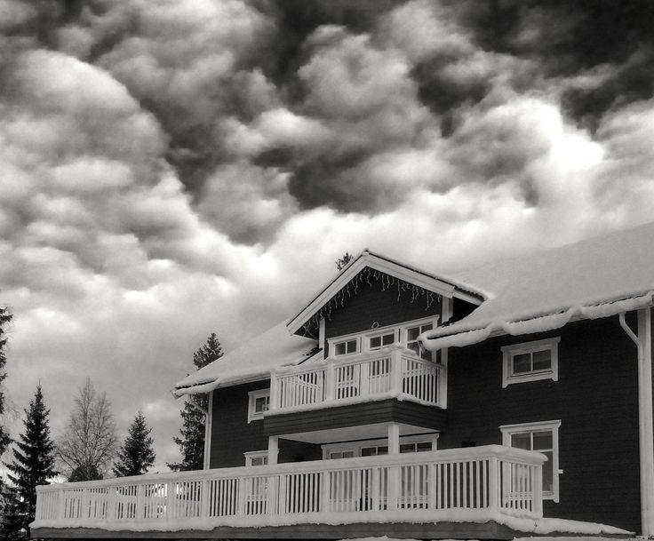 Villa i Västerbotten med altanräcke New Piteå