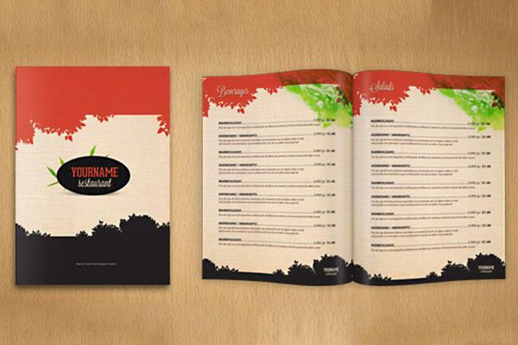 Easy To Customize Restaurant Menu Psd Mockup Menu Mockup Free Menu Design Template Restaurant Menu Template