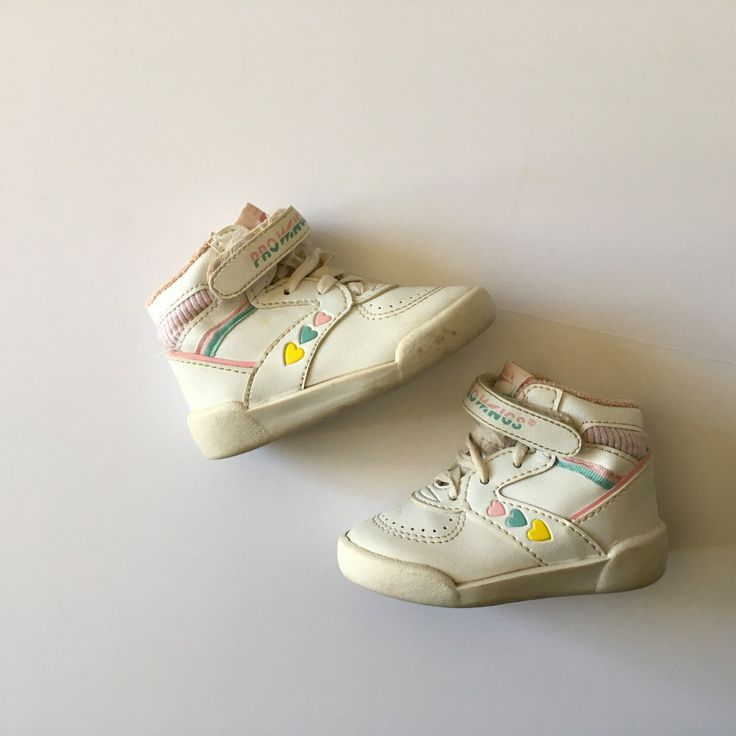 1980's Pro Wings Pastel Heart Tennis Shoes (toddler 4) by twinkletotsVintage on Etsy https://www.etsy.com/listing/492948788/1980s-pro-wings-pastel-heart-tennis