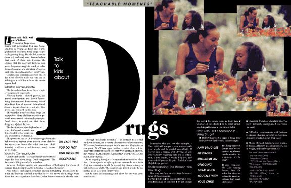 Magazine Layout Design   Talk to Kids About Drugs   Layout ...
