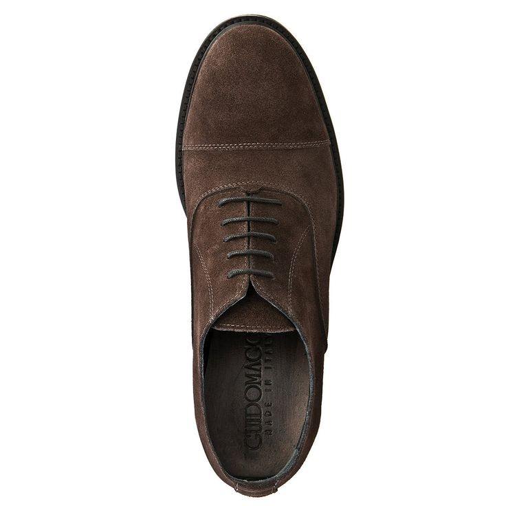 Elevator Dress shoes : Castro (Dark Brown Suede). Upper in full grain leather, full soft leather lining, Leather heel with special anti-slip rubber. Get them now : http://www.guidomaggi.com/us/luxury-collection/dress-shoes/castro-detail#.VIyfBXsqL-U