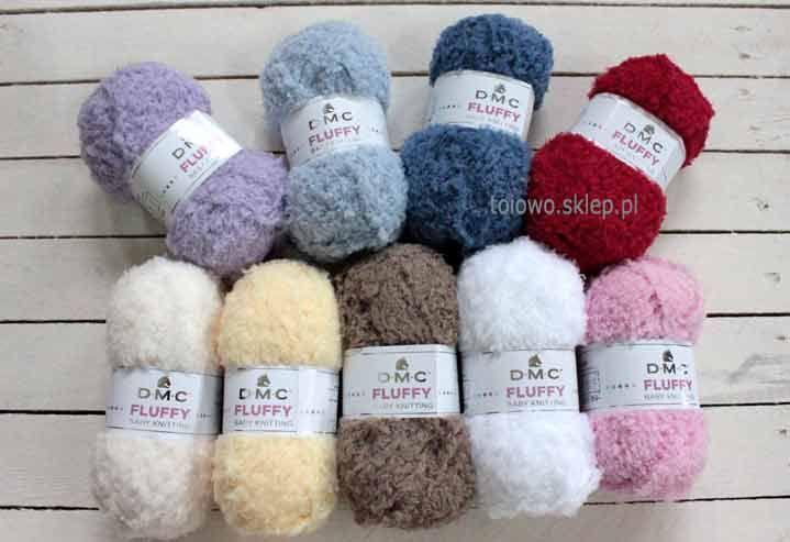 DMC Fluffy mają piękne pastelowe kolory