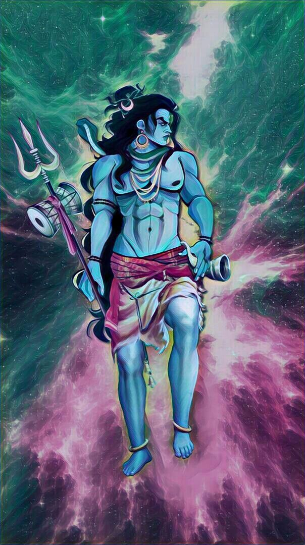 Lord shiva as warrior