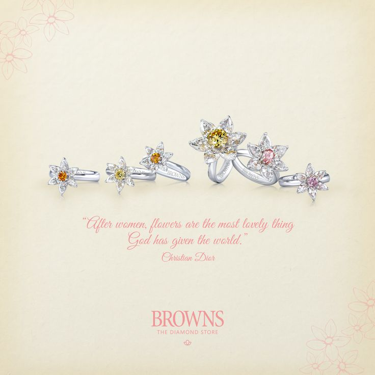 """After women, flowers are the most lovely thing God has given the world"" - Christian Dior.  http://bit.ly/Browns_Pollination"