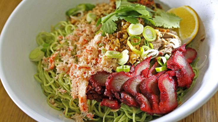 $ Thai food: fragrant roast duck noodles, jade noodles with Chinese barbecue and grilled sausage with peanuts, gray-looking nam sod. 8A-8p. Thursdays - Tuesdays. Takeout. Lot parking. Cash only.