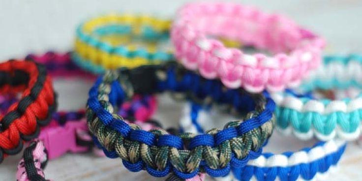 Cómo hacer una pulsera de eslabones decorada con hilos