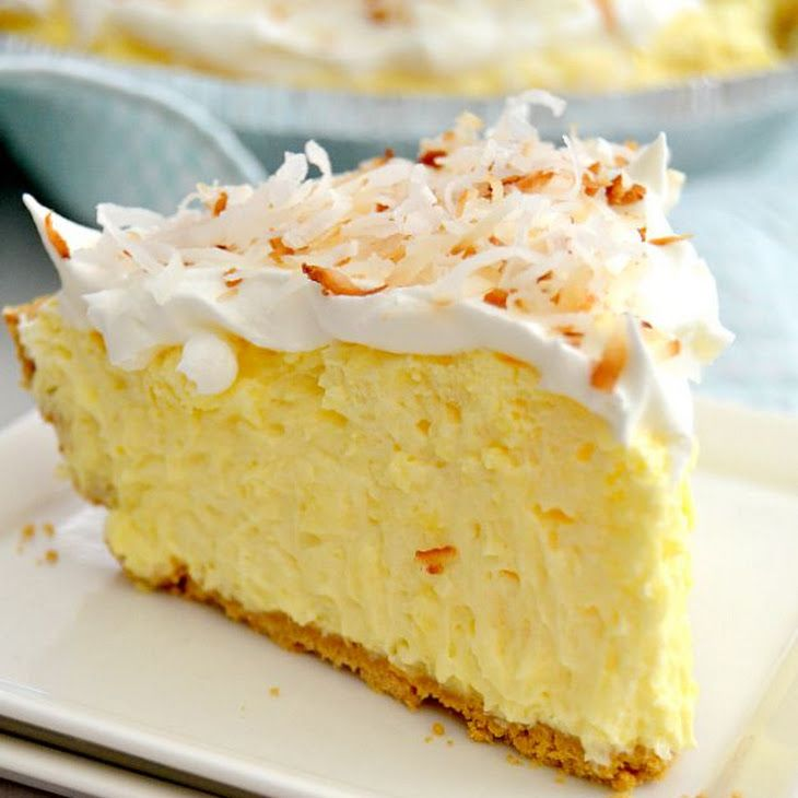 Easy Coconut Cream Pie Recipe Desserts with graham cracker pie crust, pudding powder, milk, shredded coconut, cool whip, toasted coconut