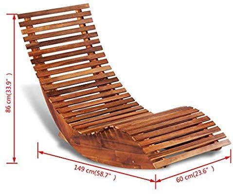 Vidaxl Chaise Longue A Bascule En Bois Transat Bain De Soleil De Jardin Terrasse Amazon Fr Cuisine Maison Buitenmeubilair Buitenstoelen Stoel Maken