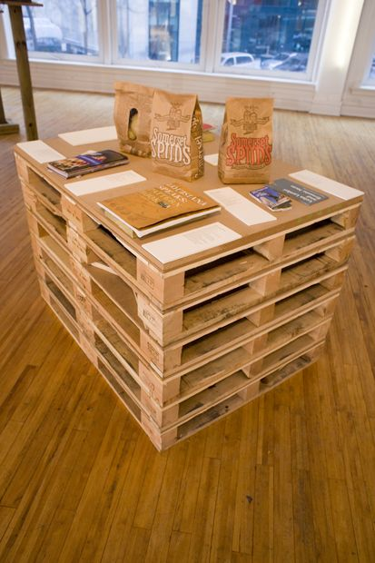 Escritorio: Palettes Tables, Buena Ideas, Dreams Houses, Pallets Studios, Casa Diy, Estiba, Crafts Tables, Craft Tables, Palette Table