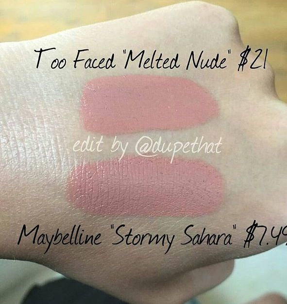 Too faced melted nude dupe