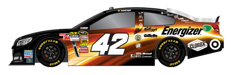 COOL PAINT SCHEME.TOO BAD IT WON'T LOOK LIKE THIS WHILE JUAN PABLO MONTOYA DRIVES (CRASHES EVERY WEEK)