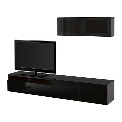 BESTÅ TV storage combination/glass doors IKEA The drawers and doors close silently and softly, thanks to the integrated soft-closing function.