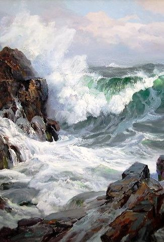 """Charles Vickery (1913-1998) ~  """"Coming To Blow"""" (Détail)"""