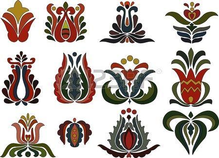 Colorful flower motifs