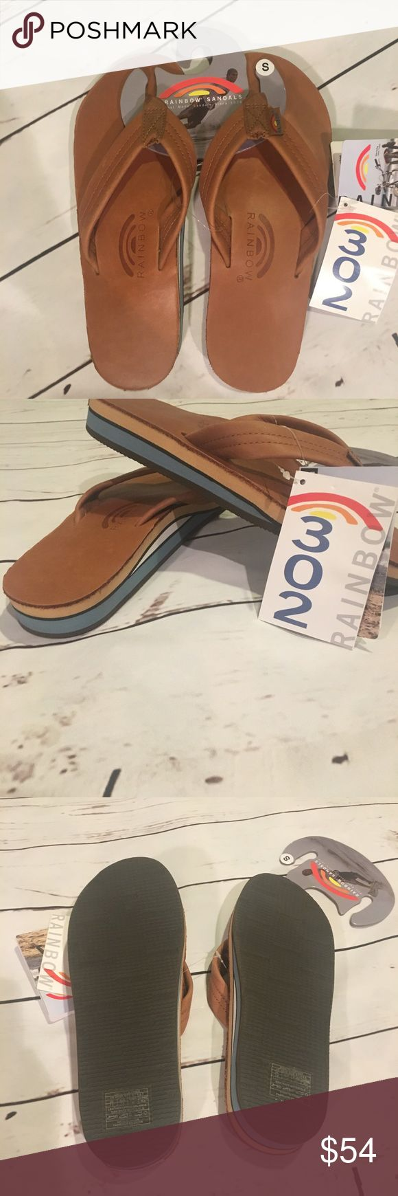🌈SALE🌈 Rainbow Sandals ,Men's, Small , Classic Classic w blue Rainbow Shoes Sandals & Flip-Flops