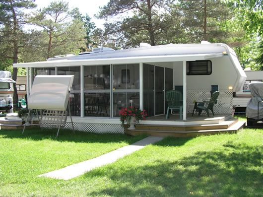 Add a room with insulated rv fifth wheel sunroom ideas Rv room additions