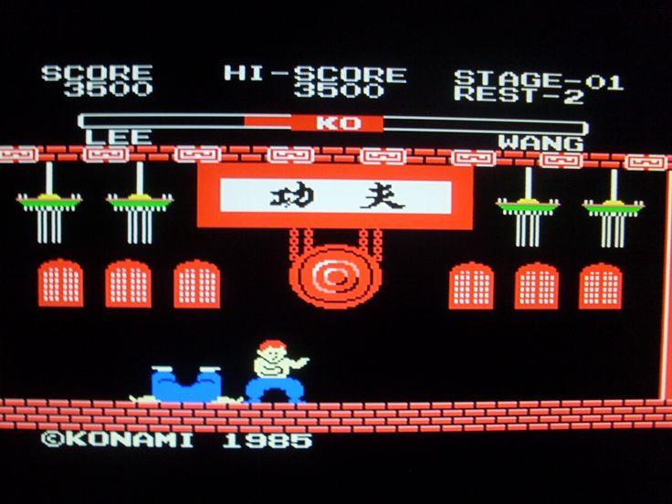 Konami YIE AR KUNG FU 8bit MSX game