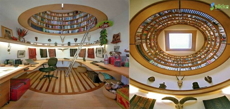 Home Decor Tip: This amazing, space saving bookshelf for your office ! Share it with your friends