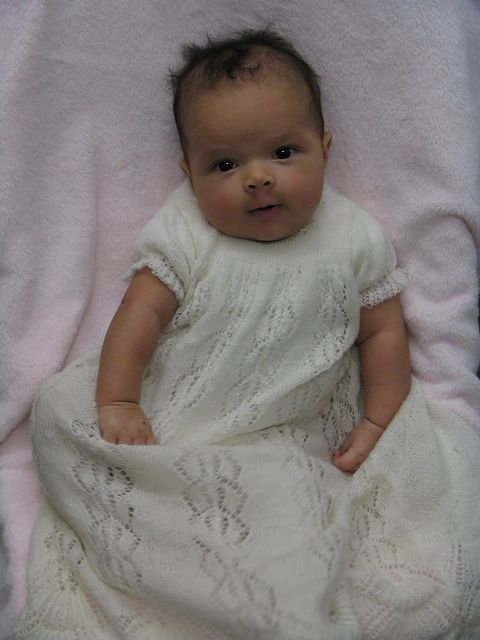 how-to knit christening gown.