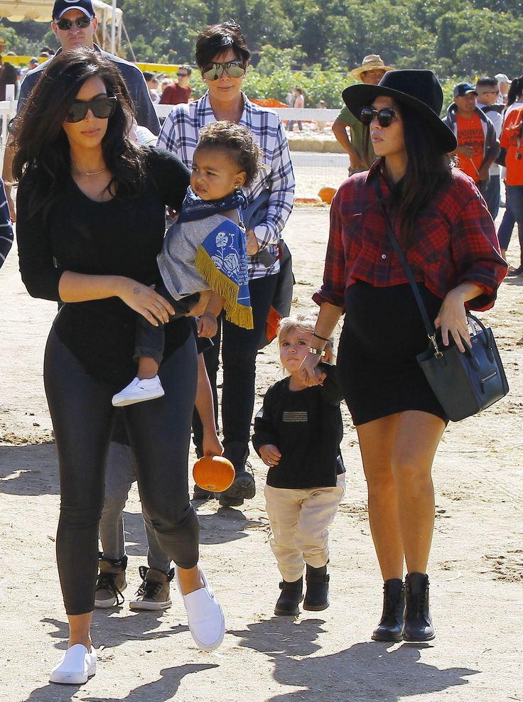 Kim and Kanye take North West to Halloween pumpkin patch