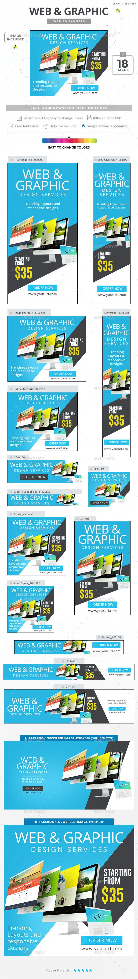 Web & Graphic Banners  — PSD Template #coupon #template • Download ➝ https://graphicriver.net/item/web-graphic-banners/18037282?ref=pxcr