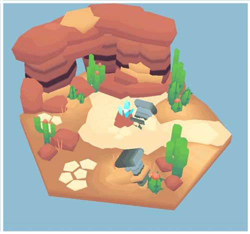 Low Poly Set 2 ~ Desert <2000 poly scene